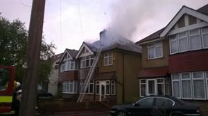 Hayes home 'severely damaged' in early morning blaze