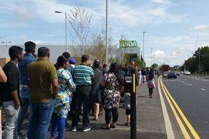 Queues stretch through Hayes as Asda opens new supermarket