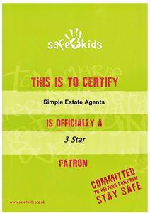 Simple Estate Agents helps safe4kids for the third year running