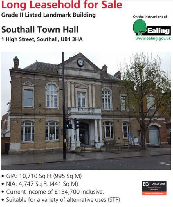 Southall Town Hall: Public meeting to highlight 'negative impact' of leasing Grade II listed building